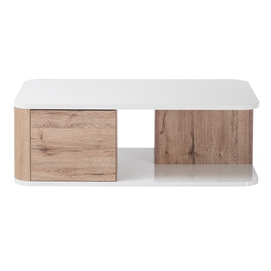 Kemble Coffee Table In Oak And White Lacquered Gloss_3