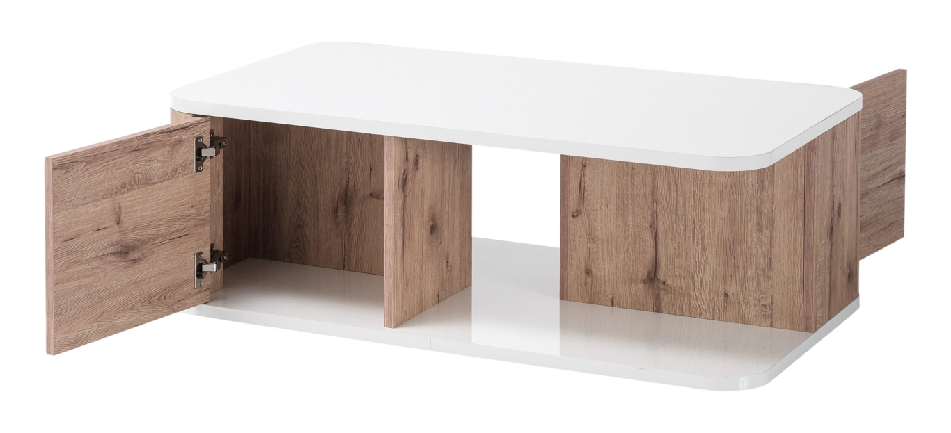 Kemble Coffee Table In Oak And White Lacquered Gloss_5