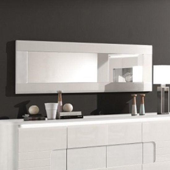 Kemble Wall Mirror In White High Gloss