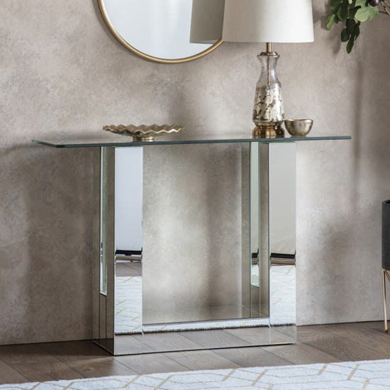 Kembridge Mirrored Console Table