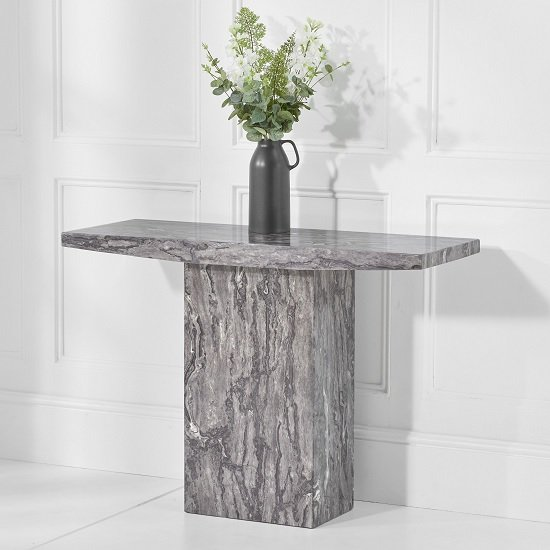 Kempton Marble Console Table Rectangular In Grey_1