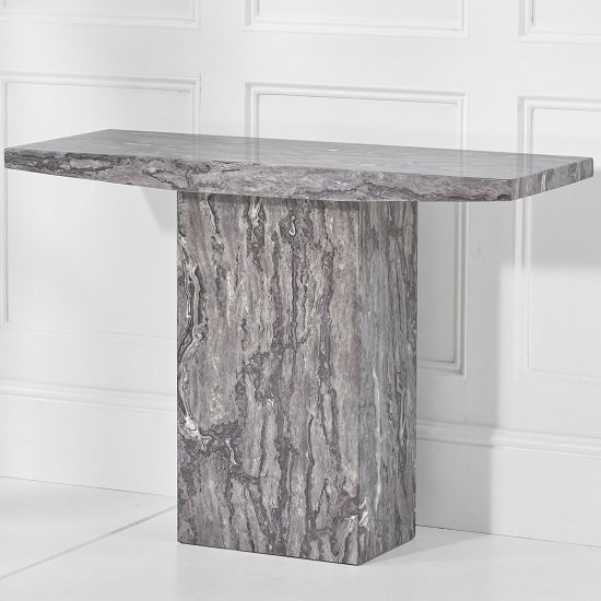 Kempton Marble Console Table Rectangular In Grey_2