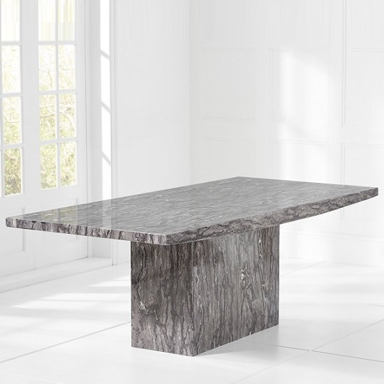 Kempton Marble Extra Large Dining Table Rectangular In Grey_2