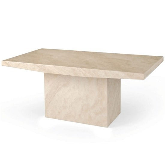 Marble Effect Coffee Table: Kempton Marble Effect Coffee Table Rectangular In Cream