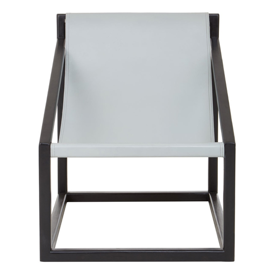 Formosa Teak Wood Cubic Frame Chair in Grey