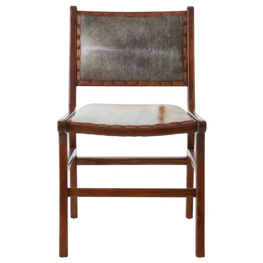 Kendari Teak Wood Dining Chair In Brown