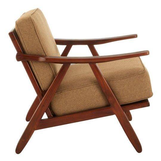 Formosa Teak Wood And Fabric Chair With Wooden Legs   _3