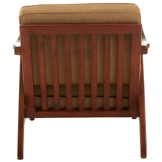 Formosa Teak Wood And Fabric Chair With Wooden Legs   _4