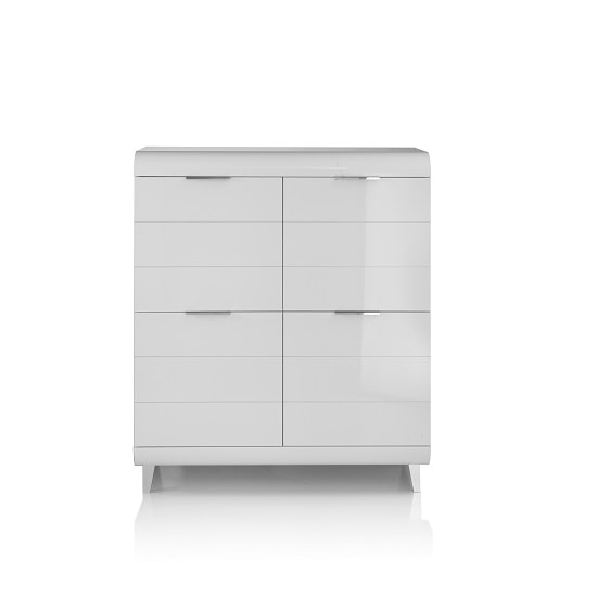 Kenia Modern Highboard In White High Gloss With 4 Doors_5