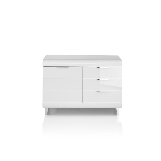 Kenia Small Sideboard In White High Gloss With 3 Drawers_5