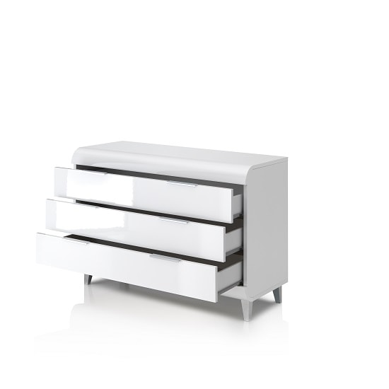 Kenia Modern Chest Of Drawers Wide In White High Gloss_2