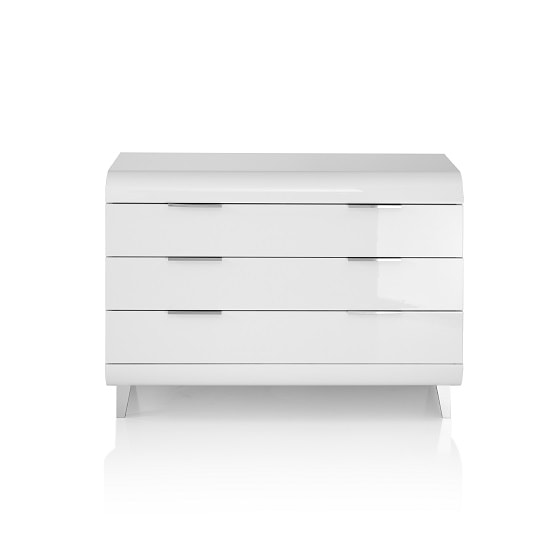 Kenia Modern Chest Of Drawers Wide In White High Gloss_4