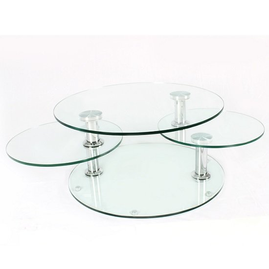 Kenos Rotating Glass Coffee Table In Clear With Chrome Base_2