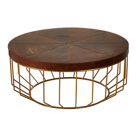 Kensington Townhouse Round Coffee Table In Brown
