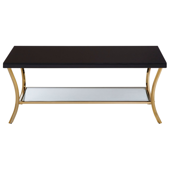 Furud Townhouse Wooden Coffee Table In Black