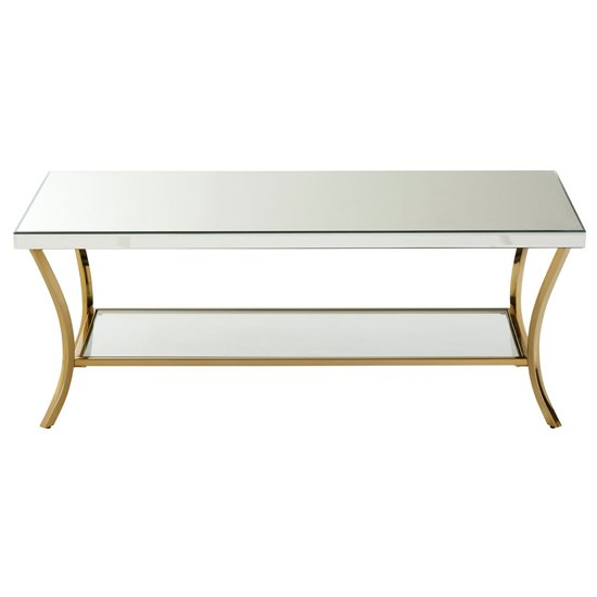 Furud Townhouse Wooden Coffee Table In Silver