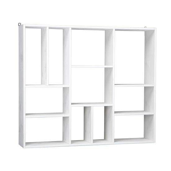 kensington wooden wall mounted shelving unit in white pine. Black Bedroom Furniture Sets. Home Design Ideas