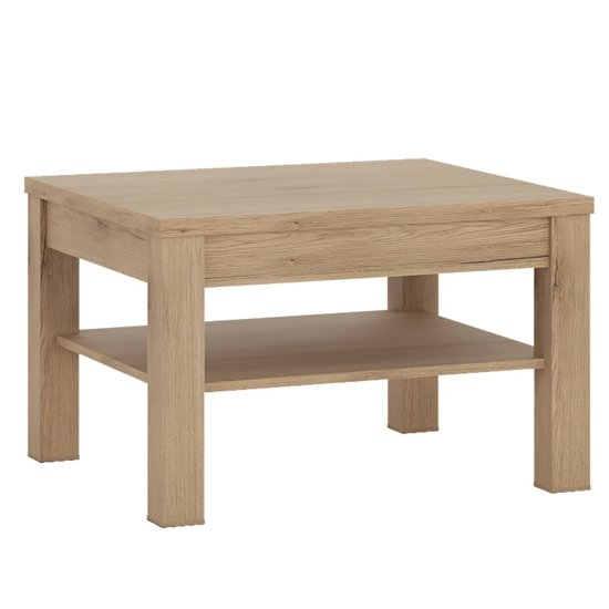 View Kenstoga wooden square coffee table in grained oak