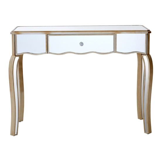 Kentaurus Mirrored Glass Dressing Table In Champagne_2