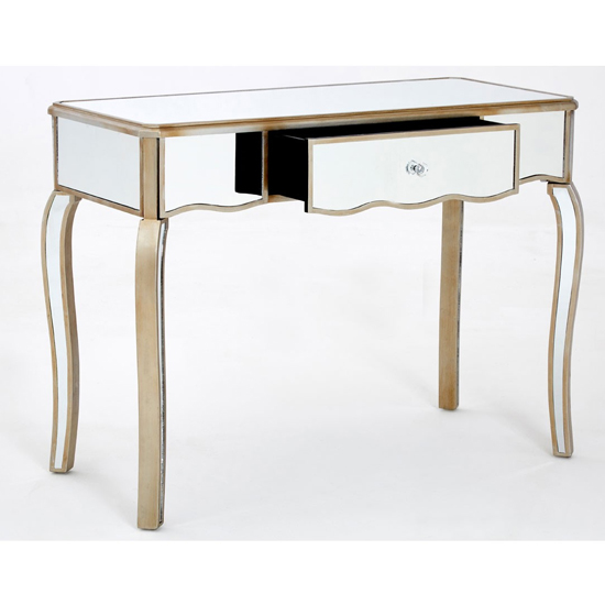 Kentaurus Mirrored Glass Dressing Table In Champagne_3