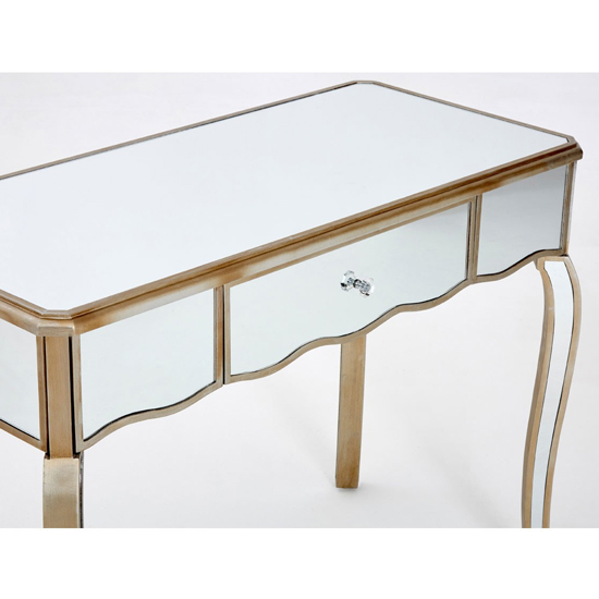 Kentaurus Mirrored Glass Dressing Table In Champagne_4