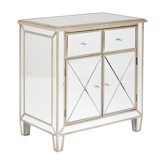 Kentaurus Mirrored Glass Sideboard In Champagne