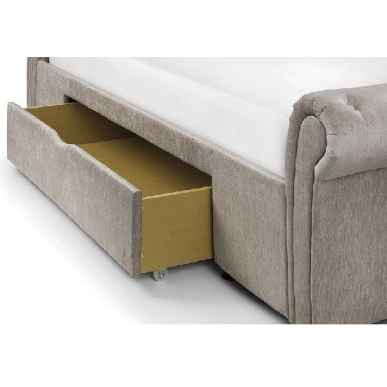 Kenton Fabric Storage Double Bed In Mink Chenille_3