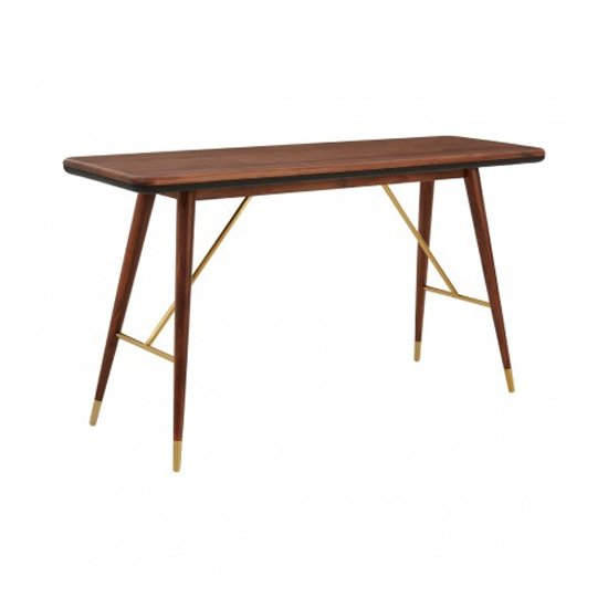 Kentona Wooden Console Table In Walnut