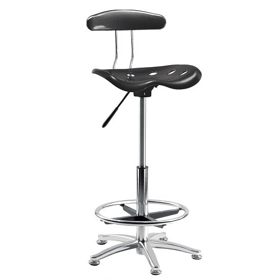Kentucky Contemporary Chair In Black With Castors