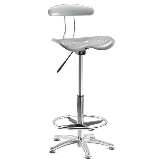 Kentucky Contemporary Chair In Silver With Castors