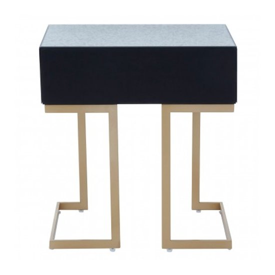 Keseni Mirrored Glass End Table In Silver With Gold Legs_5