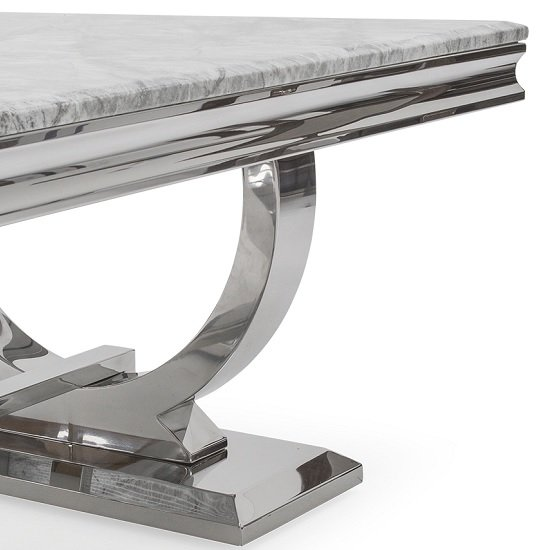 Kesley Coffee Table In Grey Marble Top And Stainless Steel Base_3