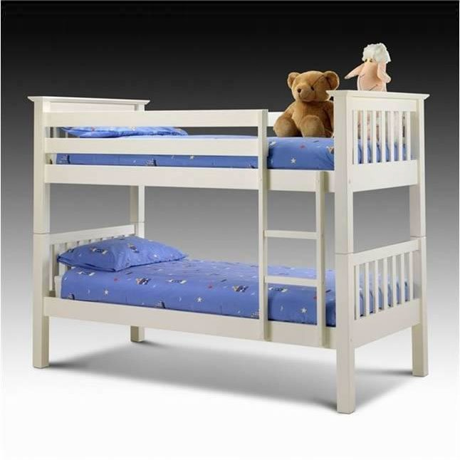 White Kids Bunk Bed with Ladder