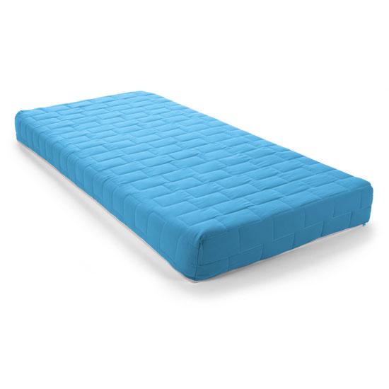 Product photograph showing Kids Flex Reflex Foam Regular Light Blue Double Mattress