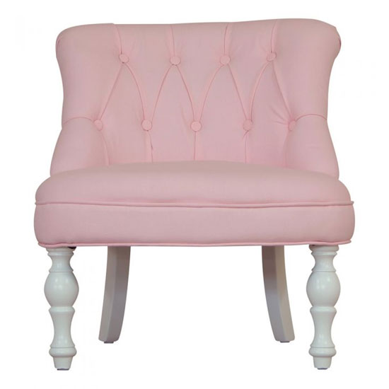 Kids Mini Fabric Chair In Cabrio Pink With Wooden Legs_2