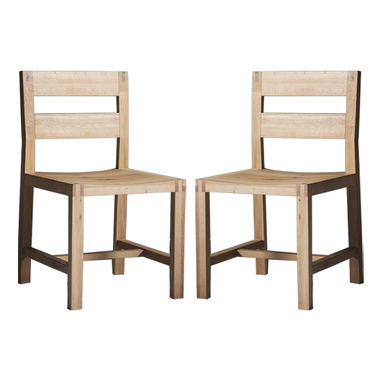 Kielder Oak Dining Chairs In Pair