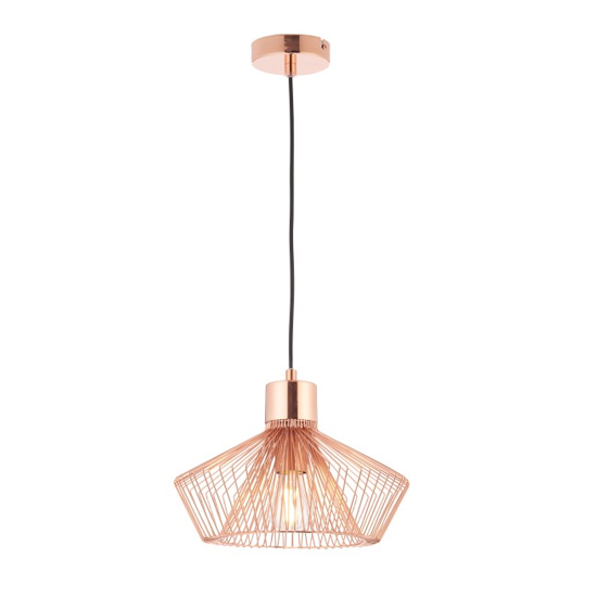 Kimberley Wall Hung Pendant Light In Rose Gold
