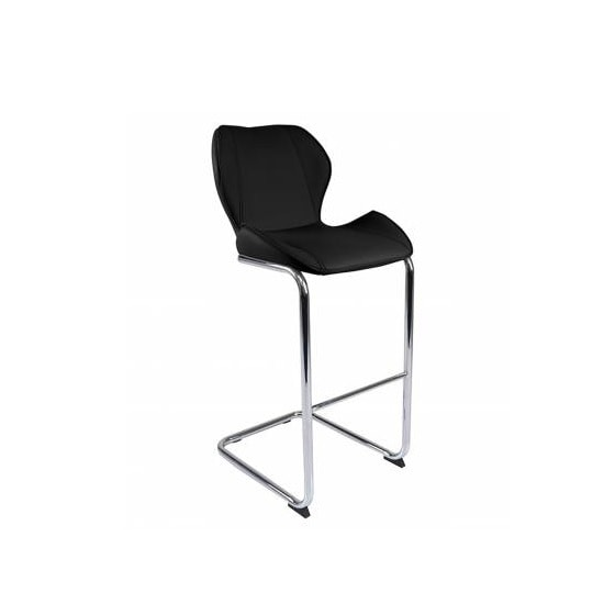 Kimberly Bar Stools In Black Faux Leather In A Pair_3
