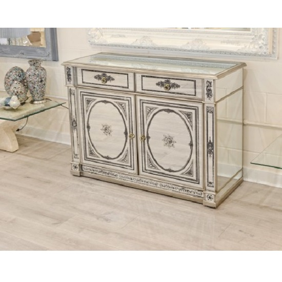 Kimmy Mirrored Sideboard With Two Door And Two Drawer