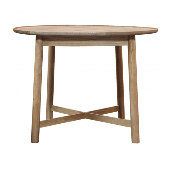 Kingham Round Wooden Dining Table In Oak