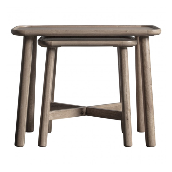 Kingham Set Of 2 Nesting Tables In Grey
