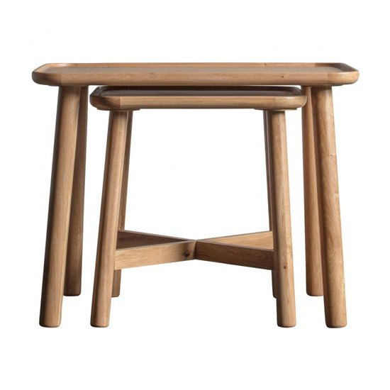 Kingham Set Of 2 Nesting Tables In Oak