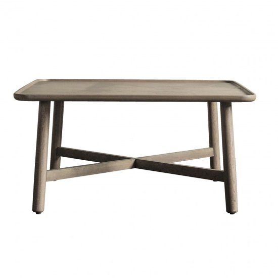 Kingham Square Wooden Coffee Table In Grey