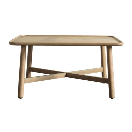 View Kingham square wooden coffee table in oak