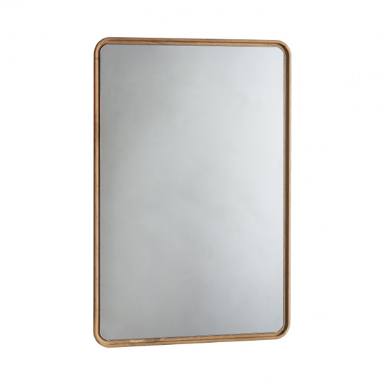Product photograph showing Kingham Wall Mirror With Wooden Frame In Oak
