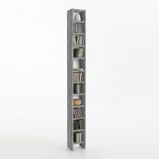 Kinsley CD DVD Storage Tower In Light Atelier And White