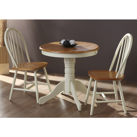 Kinvor Round Wooden Dining Table In Buttermilk_2