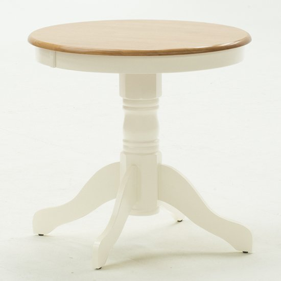 Kinvor Round Wooden Dining Table In Buttermilk