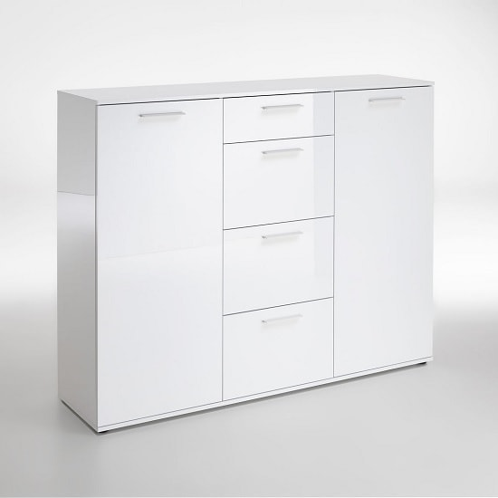 Klara Sideboard In White High Gloss With 2 Doors