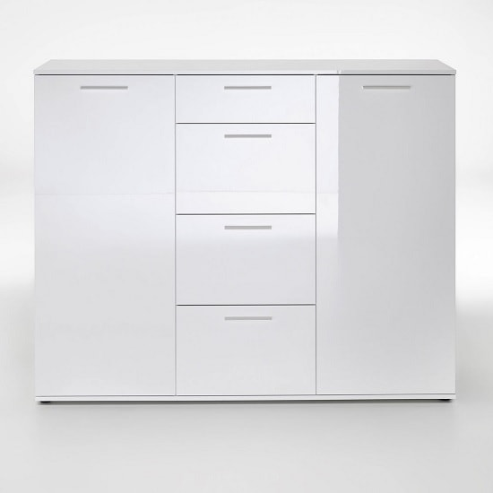 Klara Sideboard In White High Gloss With 2 Doors_3